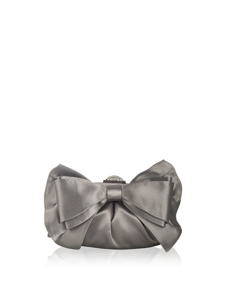 Judith Leiber Couture Madison Satin Bow Clutch Bag,