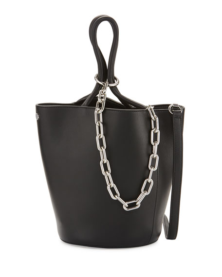 Alexander Wang Roxy Large Leather Tote Bag, Black