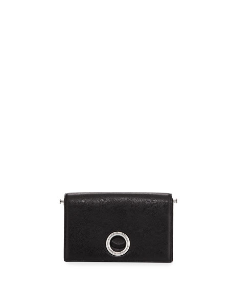 Alexander Wang Riot Leather Convertible Clutch Bag, Black
