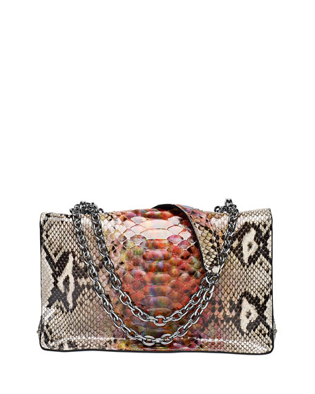 Margaux Python Shoulder Bag