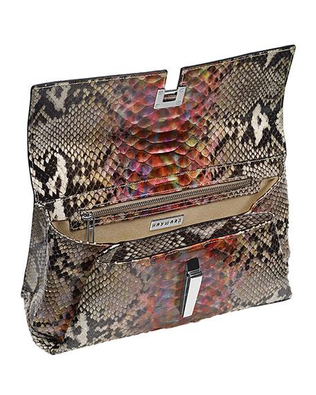 Margaux Python Shoulder Bag