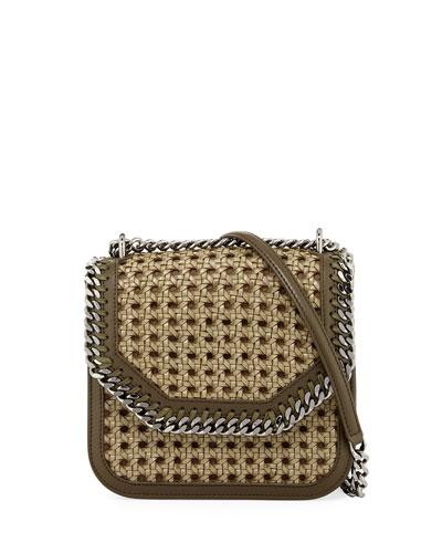 fad3384b04 Stella McCartney Falabella Medium Box Wicker Satchel Bag