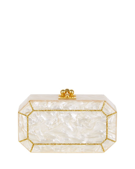 Edie Parker Fiona Faceted Clutch Bag