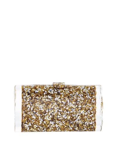 Lara Backlit Glow-in-the-Dark Acrylic Clutch Bag