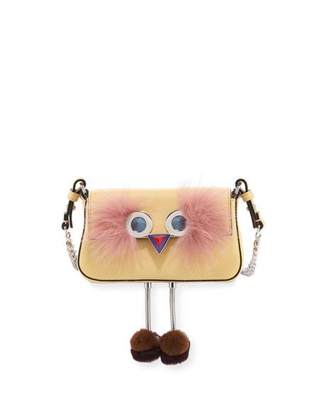 Fendi Faces Micro Baguette Shoulder Bag w/Legs, Medium