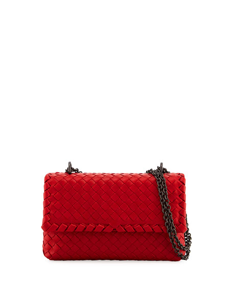 Bottega Veneta Baby Olimpia Intrecciato Shoulder Bag