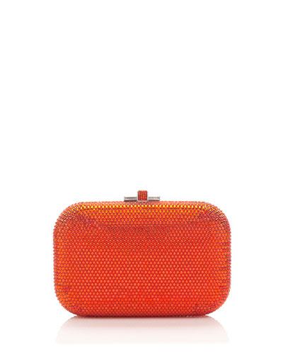 Crystal Slide-Lock Clutch Bag, Hyacinth