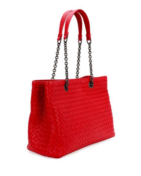 Bottega Veneta Intrecciato Medium Double-Chain Tote Bag 9dc6d8a9be72f