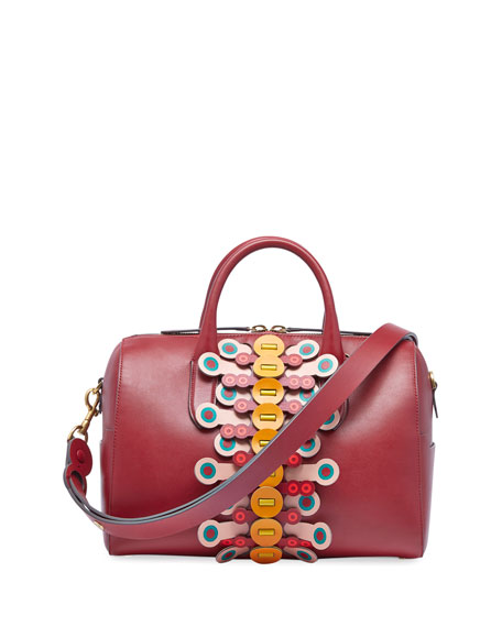 Anya Hindmarch Vere Barrel Flip Satchel Bag, Red