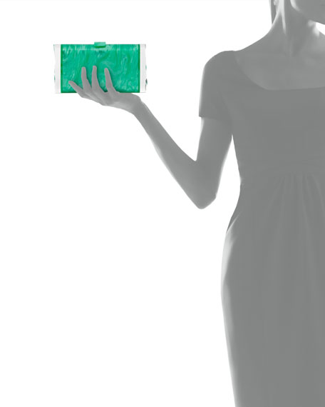 Lara Acrylic Backlit Ice Clutch Bag