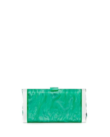 Edie Parker Lara Acrylic Backlit Ice Clutch Bag