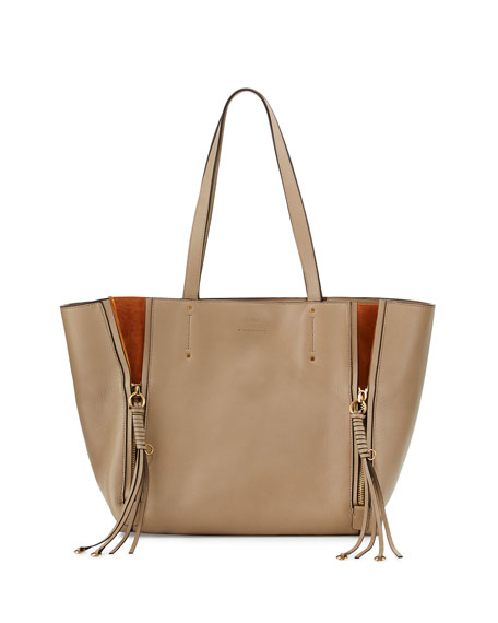c6c262405 ChloÉ Milo Medium Leather & Suede Tote Bag, Brown | ModeSens