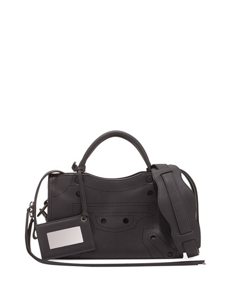 City Aj Extra Small Tote Bag, Black