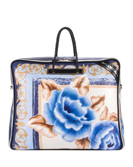 Balenciaga Blanket Square XL AJ Floral Tote Bag,