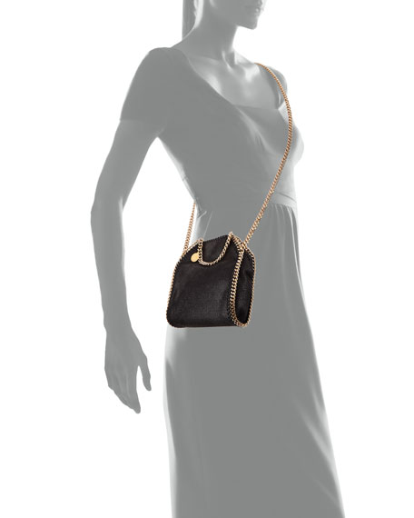 Tiny Falabella Shoulder Bag, Black