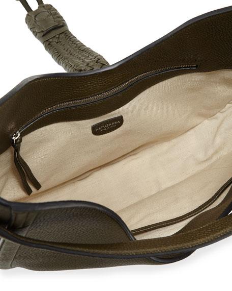 Ghianda Woven Leather Shoulder Bag