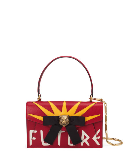 Gucci Linea D Future Top-Handle Bag, Red/White