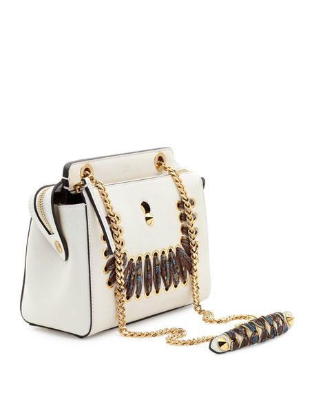 Dotcom Ribbon-Laced Shoulder Bag, White