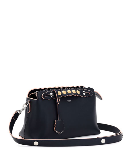 By the Way Small Scalloped Satchel Bag, Dark Blue