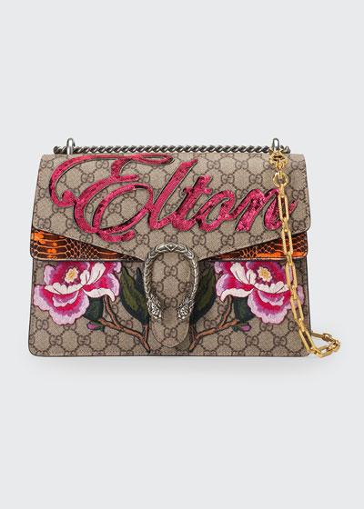 Dionysus Medium Elton Shoulder Bag  Neutral/Multi