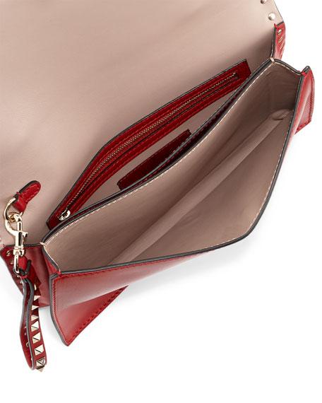 Rockstud Flap Wristlet Clutch Bag