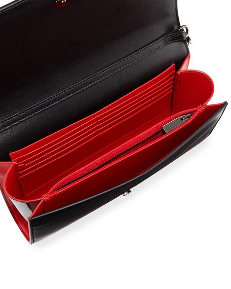 Paloma Fold-Over Spike Clutch Bag, Black