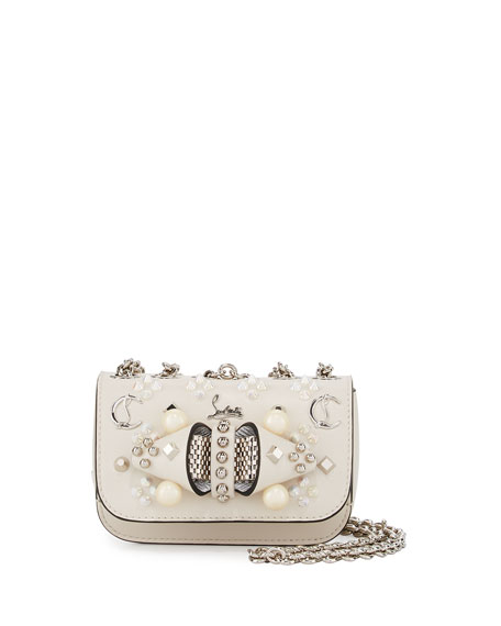 Christian Louboutin Sweet Charity Mixed-Stud Leather Crossbody