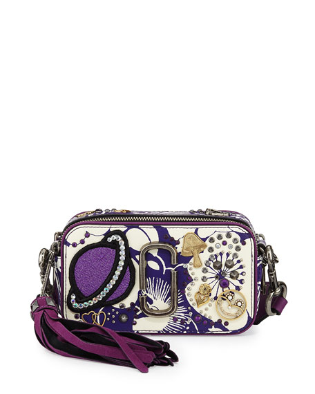 1246e5a37a47 Marc Jacobs Stamped Floral Snapshot Crossbody Bag