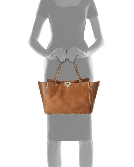 Rockstud Medium Suede Tote Bag
