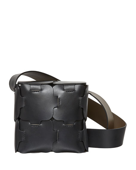 Leather Crossbody Mini Bag, Black