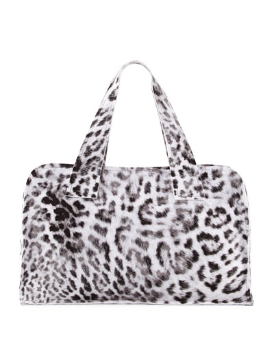 Animal-Print Rectangle Bag, White Pattern
