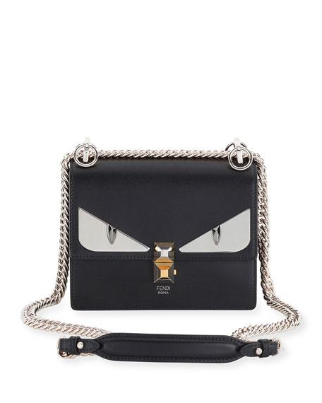 Fendi Kan I Monster Mini Leather Shoulder Bag,