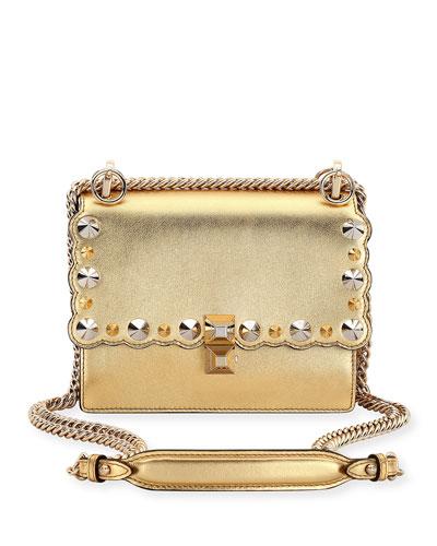 d68f4f145e26 Kan I Mini Metallic Studded Chain Shoulder Strap Gold