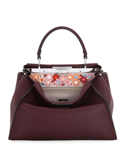 Peekaboo Medium Embroidered Satchel Bag