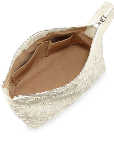 Two for One 12 Raffia Pouch, Neutral