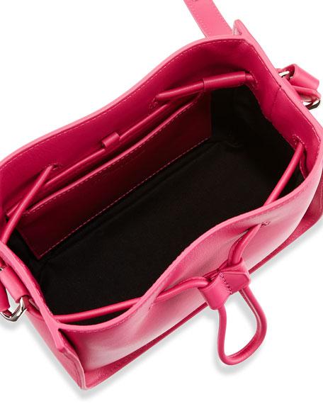 Soleil Mini Drawstring Bucket Bag, Pink