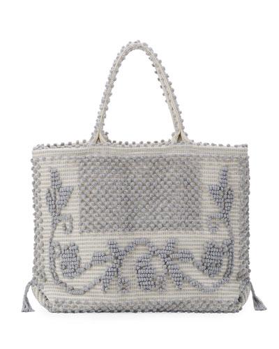 Martis Fiore Woven Tote Bag, Gray