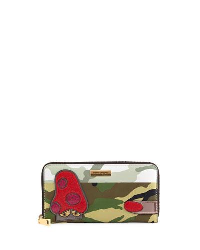 Julie Verhoeven Camo Standard Continental Wallet