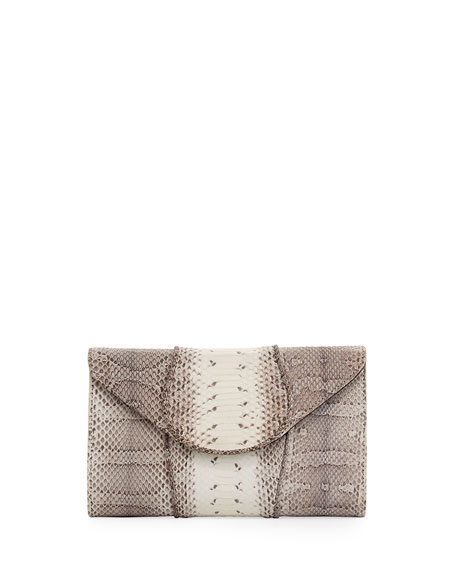Babo Snakeskin Flap Clutch Bag