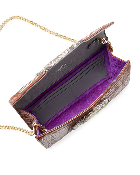 Herzog Two-Tone Clutch Bag