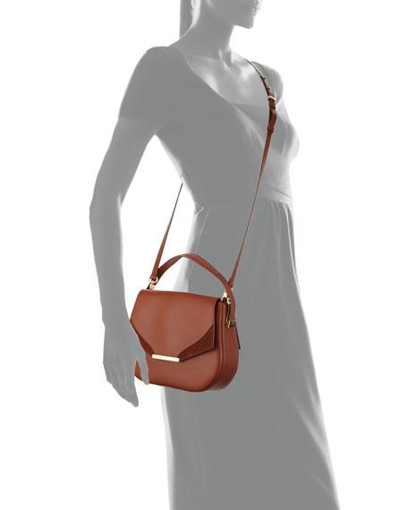 Deedee Leather Saddle Bag, Brown