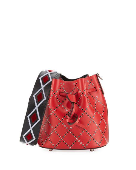Les Petits Joueurs Mini Daliah Studs Bucket Bag,