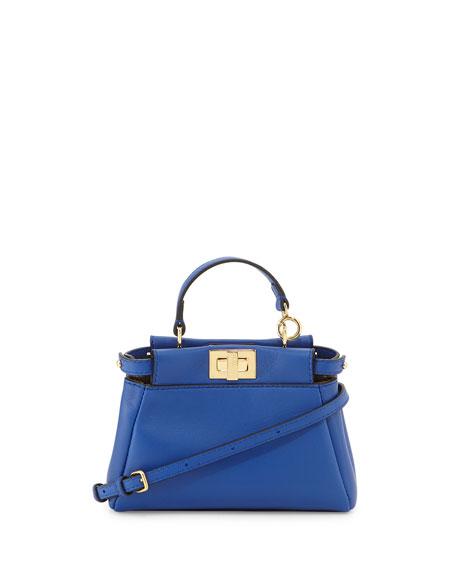 Peekaboo Micro Satchel Bag,, Blue
