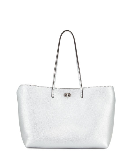 Fendi Selleria Carla Tote Bag, Silver