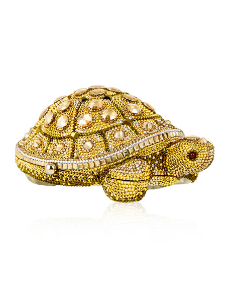 Judith Leiber Couture Crystal-Embellished Turtle Clutch Bag,