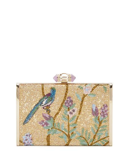 Songbird Slender Framed Clutch Bag, Gold