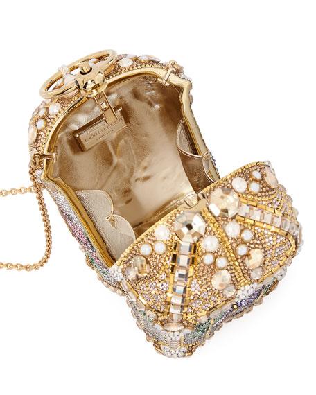 Birdcage Crystal Beaded Tassel Clutch Bag