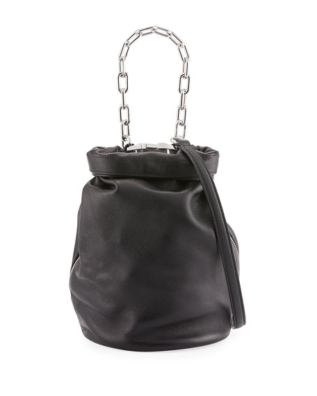 Alexander Wang Roxy Mini Leather Bucket Bag, Black