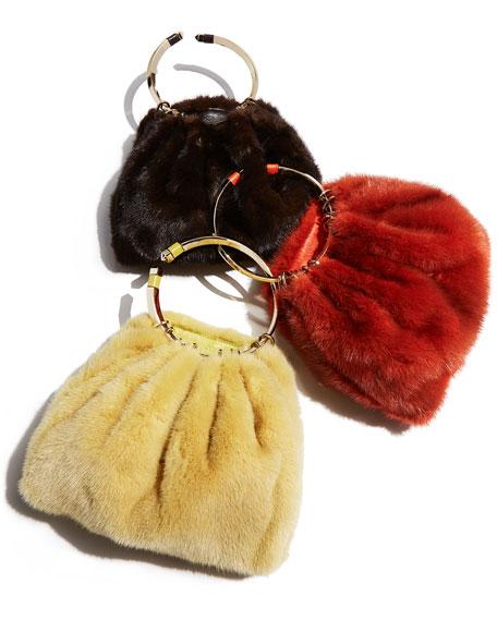 Bebop Loop Mink Fur Top-Handle Bag