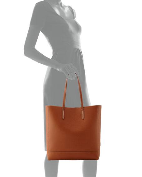 Modern Leather Tote Bag, Brown